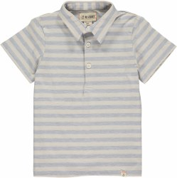 Blue/Cream Stripe Polo 4-5y