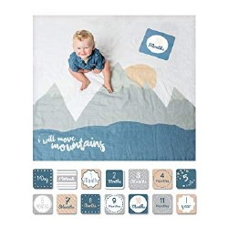 First Year Blanket and Card Set - I Will Move Mountains