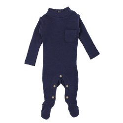 Mock Neck Overall Navy 9-12m