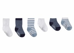 Socks Blue Essentials 6pk 2-4