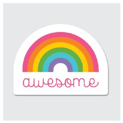 Sticker Awesome Rainbow