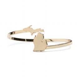 Love Michigan Bracelet Gold Pl