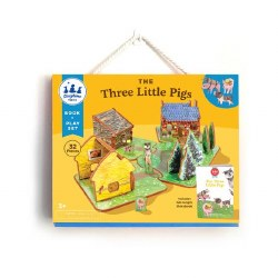 Three Little Pigs Book and Pla