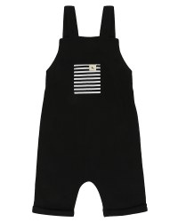 Shortie Dungaree Black 6-12m