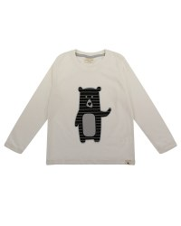 Bear Applique Top 3-4y