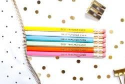 Pencil Set Best Teacher Ever