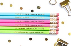 Pencil Set She Believed She Could, So She Did