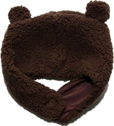 Bear Hat Mocha 6-12m