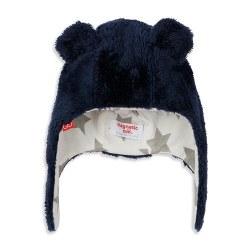 Minkee Hat Navy 6-12m