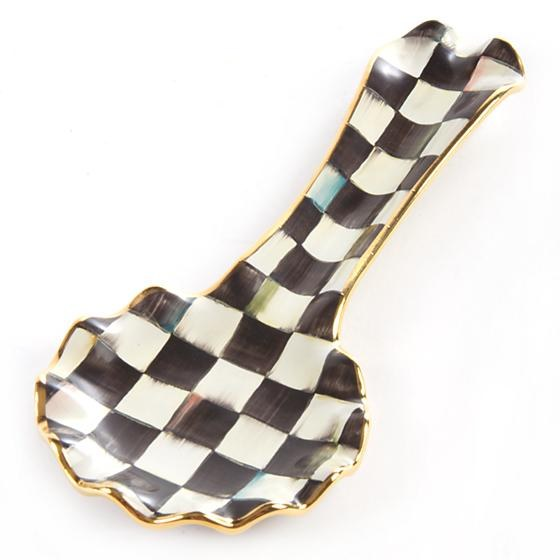 Courtly Check Ceramic Spoon Rest