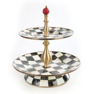 Courtly Check Enamel 2 Tier Sweet Stand