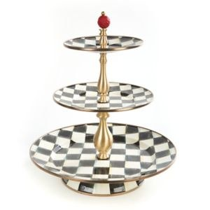 Courtly Check Enamel 3 Tier Sweet Stand
