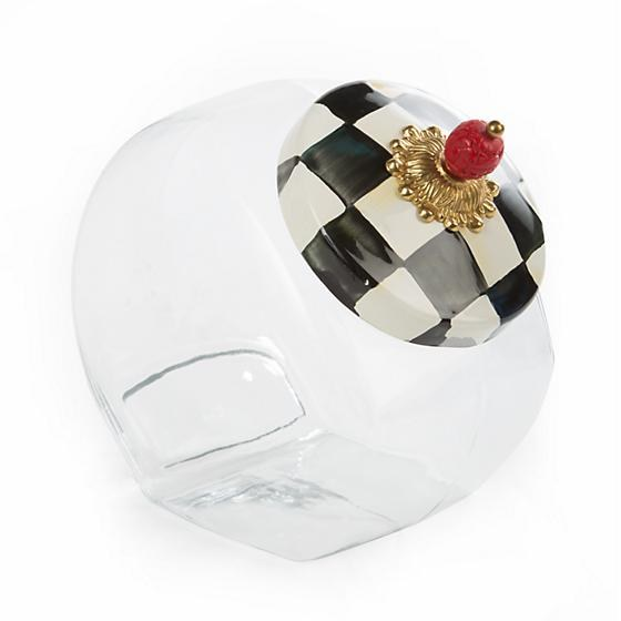 Courtly Check Enamel Cookie Jar