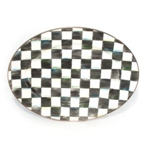 Courtly Check Enamel Oval Platter Medium