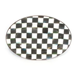 Courtly Check Enamel Oval Platter Small