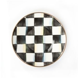 Courtly Check Enamel Saucer