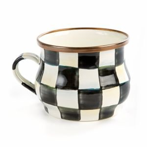 Courtly Check Enamel Tea Cup
