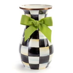 Courtly Check Enamel Vase Tall