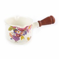 Flower Market White Enamel Butter Warmer
