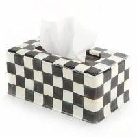 Courtly Check Enamel Standard Tissue Box Holder