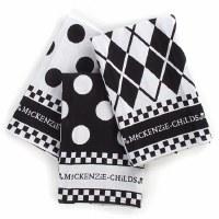 Black & White Dot Dish Towels