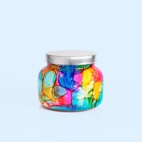 Capri Blue Volcano Rainbow Watercolor Signature Candle