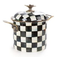 Courtly Check Enamel 7Qt Stockpot