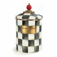 Courtly Check Enamel Canister Medium