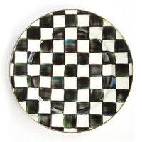 Courtly Check Enamel Charger