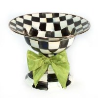 Courtly Check Enamel Compote Large