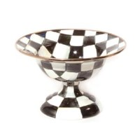Courtly Check Enamel Compote Small