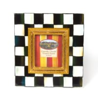 Courtly Check Enamel Frame 2.5x3