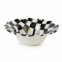 Courtly Check Enamel Petal Breakfast Bowl