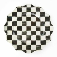 Courtly Check Enamel Petal Charger/Plate