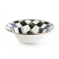 Courtly Check Enamel Serving Bowl 12