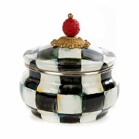 Courtly Check Enamel Squashed Pot