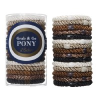 Set of 15 Grab & Go Ponytail Holders - Daily Neutral