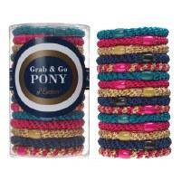 Set of 15 Grab & Go Ponytail Holders - Bombshell