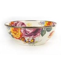Flower Market White Enamel Everday Bowl