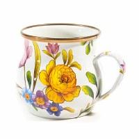 Flower Market White Enamel Mug