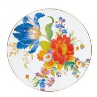 Flower Market White Enamel Serving Platter