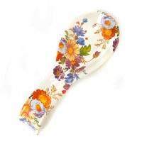Flower Market White Enamel Spoon Rest