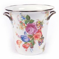 Flower Market White Enamel Wine Cooler