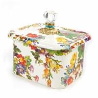 Flower Market White Recipe Box