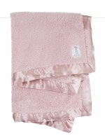 Little Giraffe Chenille Dusty Rose Baby Blanket