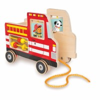 Manhattan Toy Company Fire Truck Pull Toy