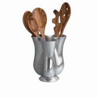 Nambe Tulip Tool Jug w/ Tools