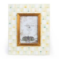 Parchment Check Enamel Frame 4x6
