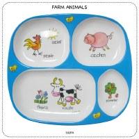 Baby Cie Farm Animals TV Tray Dinner Plate