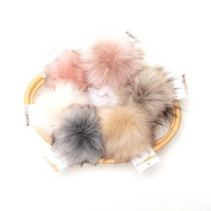Assorted Faux Fur Pom Poms